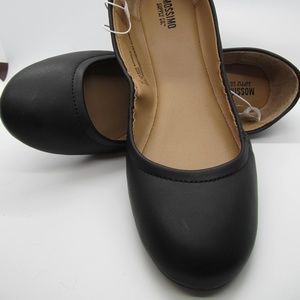 Mossimo Ona Black scrunch Ballet Flats 8.5 NWT WOW